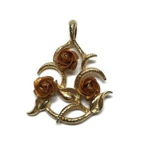 14K Gold Filled & Rose Gold Filled Rose Necklace